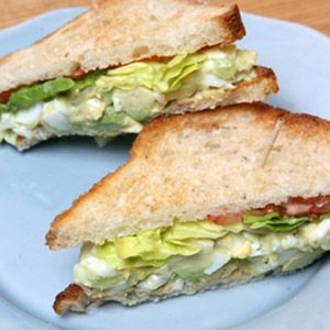 Reducing the ratio of egg yolks to whites makes this sandwich a healthy — and delicious — lunch choice.Recipe: Martha's Favorite Egg Salad Sandwich  - Delish.com