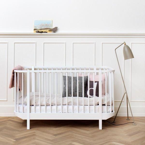Oliver Furniture  Babybett Wood  Weiss 70 x 140 cm