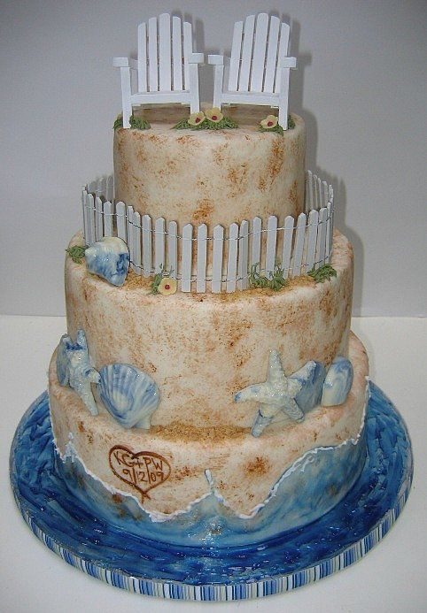 Beach-Themed-Wedding-Cakes