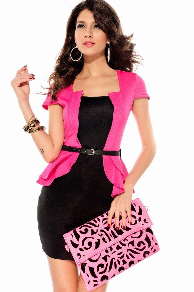 41 mejores imágenes de Peplum Dress en Pinterest | Sexy dresses ...