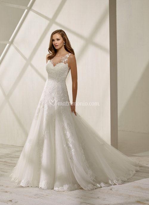 vestido de novia con escote ilusión modelo ds 19213 (divina sposa