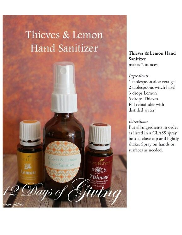 Theives and lemon hand sanitizer