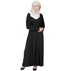Royal  Cod Gray Black Colored Abaya