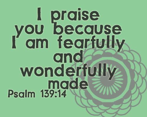 Image result for images of i am fearfully and wonderfully made