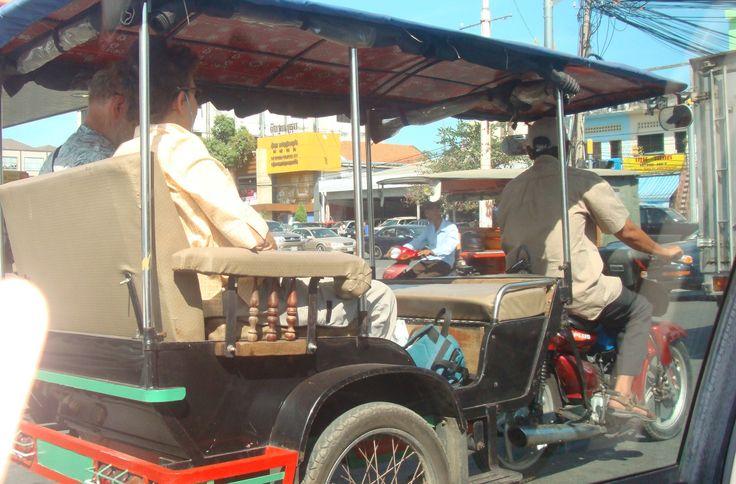 A tuktuk in Siem Reap, Cambodia.