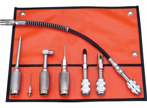 Grease lube kit is a complete range of quick connect lube accessories