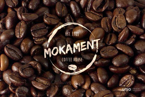 Mokament Coffee House Logo by Unio | Creative Solutions on Creative Market
