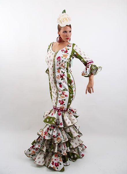 Traje de flamenca estampado de oferta desde 99 € http://www.elrocio.es/41-trajes-de-flamenca-baratos #trajesdeflamenca #trajesdeflamenca2015 #trajesdeflamencaoferta