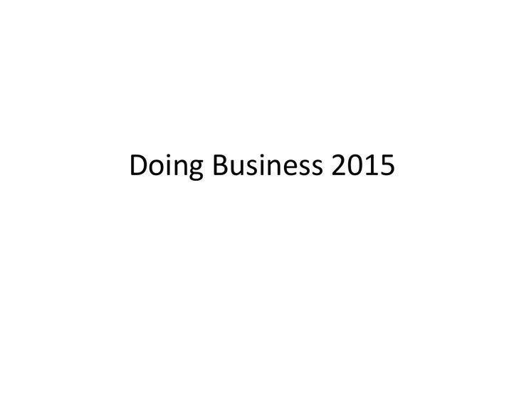 Νέα βελτίωση της Ελλάδος στο Doing Business Report 2015 by Notis Mitarachi via slideshare