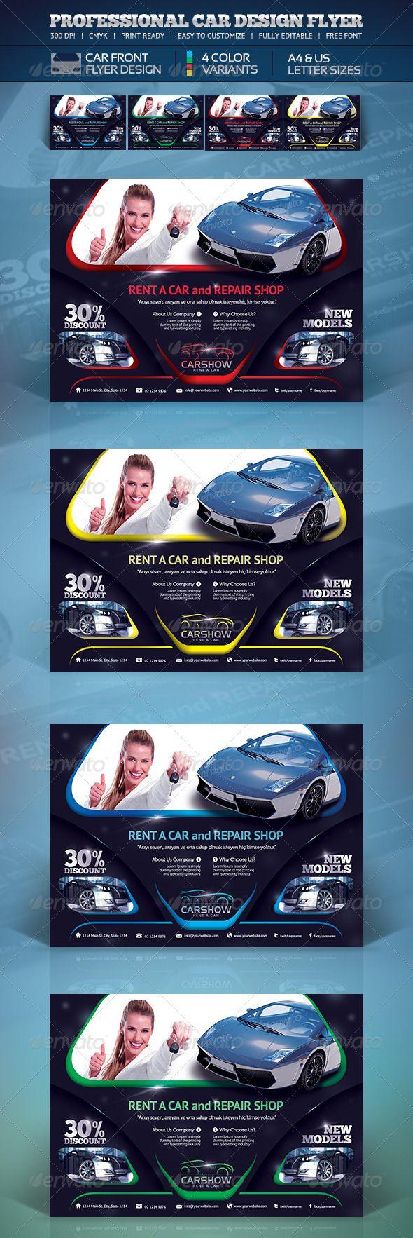 Creative Car Flyer | Shops, Cars and Creative