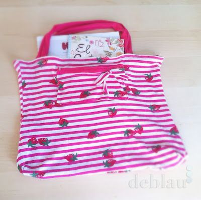DIY Tshirt Tote by deblaucrafts: Upcycle that favorite Tee into a cute