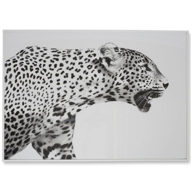 Leopard Black & White Roar Wooden Wall Wall Art $145.90