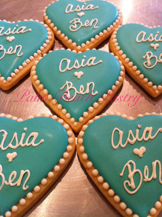 Wedding Engagement Anniversary Name or Inital Monogram Decorated Sugar Cookie favors 1 Dozen (12) on Etsy, $39.00