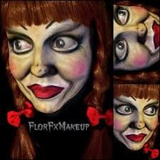 annabelle doll makeup - Google Search I LUV THIS IT LOOKS EXACTALLY LIKE ANNABELLE IN THE MOVIE!!!!!!!!