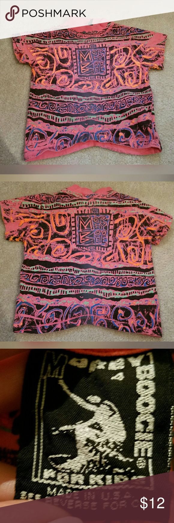 Super cool, VINTAGE, MOREY, toddler tee!! This is rad! Excellent condition. Brand is Morey Boogie Body Boards. Size is 4. Some tiny stains on collar. (See 5th pic). Vintage Shirts & Tops Tees - Short Sleeve