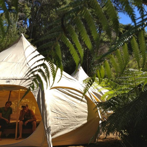 Lotus Belle tent $110/night & Double Tipi $80 - Solscape - Raglan