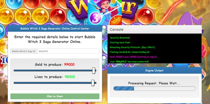 Bubble Witch Saga 3 or et vie libre Hack Générateur en ligne