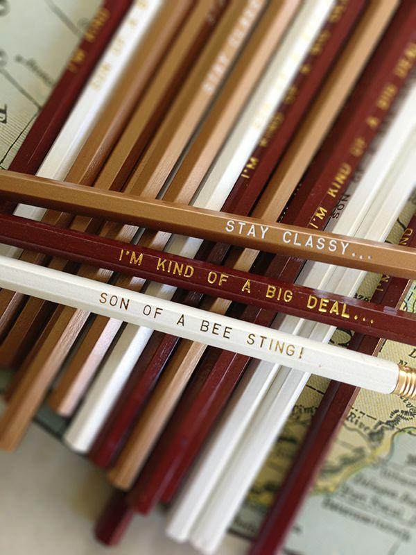 Anchorman Pencil 12 Pack by Earmark Social #pencils #drawing #handmade
