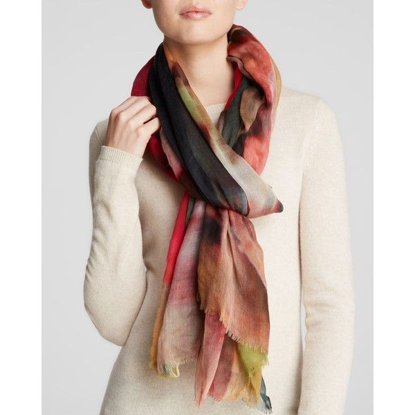 Meesha Hortensia Scarf (11.495 RUB) ❤ liked on Polyvore featuring accessories, scarves, floral shawl, wool scarves, floral print scarves, wool shawl and floral scarves