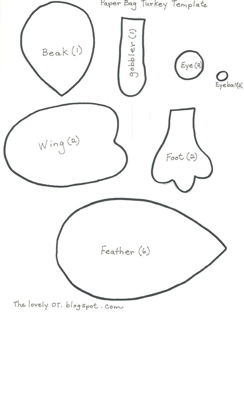 1000 ideas about turkey template on pinterest turkey