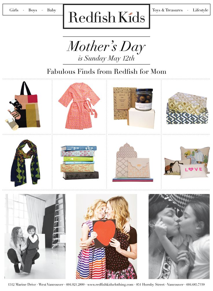 Mother's Day Gift Guide  www.redfishkids.com