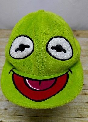 Kermit the Frog The Muppets Green Hat\Cap Fitted Toy Costume