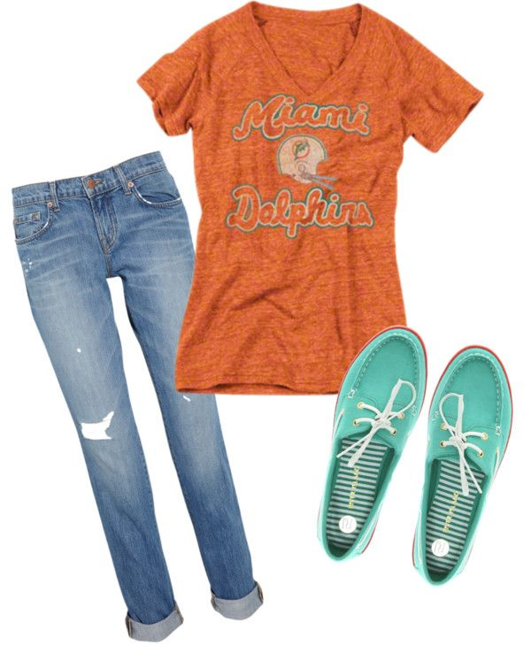 Miami Dolphins Gameday Gear- Womens, created by miamidolphins on Polyvore
