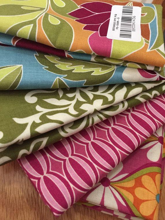 Botaniques Fat Quarter Fabric Bundle by Riley by ThreeDollsFabrics