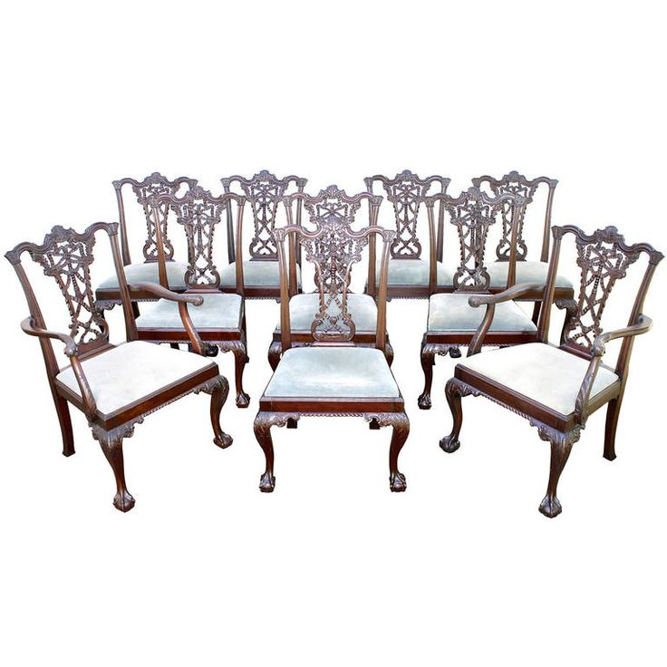 109 best Period Antique Irish Chippendale Furnishings images on