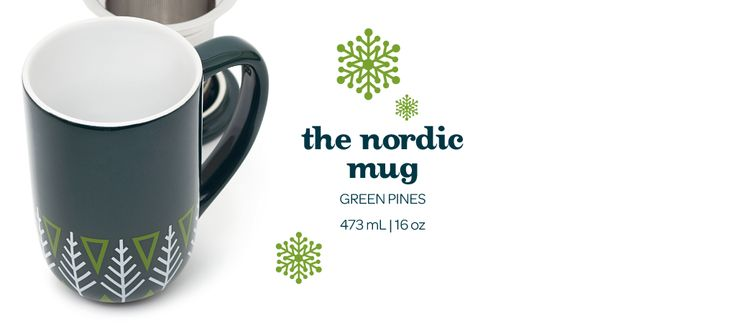 Green Pines Nordic Mug by DavidsTea