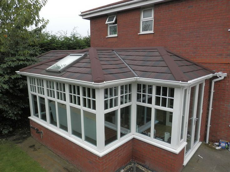 Tiled conservatory.