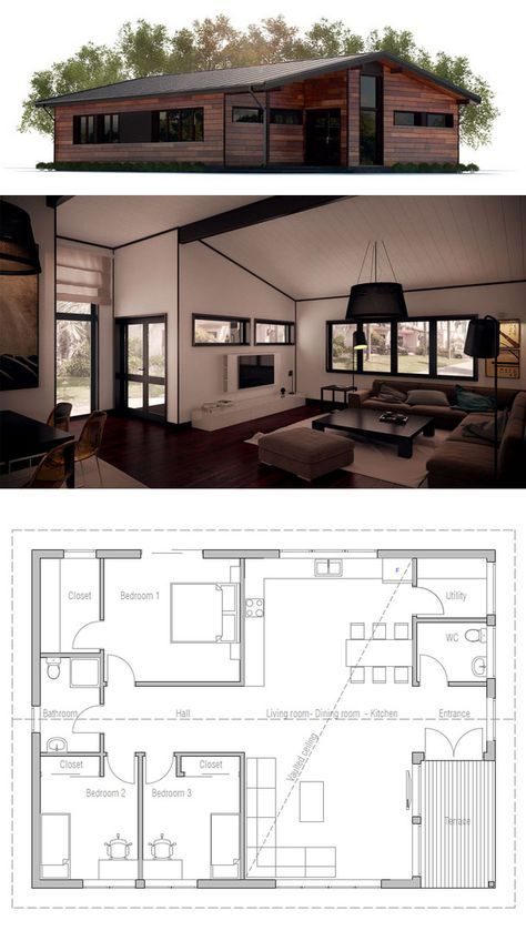 kleines Haus, Hausplan Architecture in 2018 Pinterest House