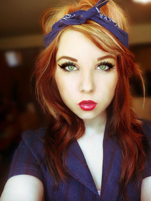 Stunning Makeup!! :: Pin Up Girl Makeup:: Retro:: Vintage Makeup:: Rockabilly