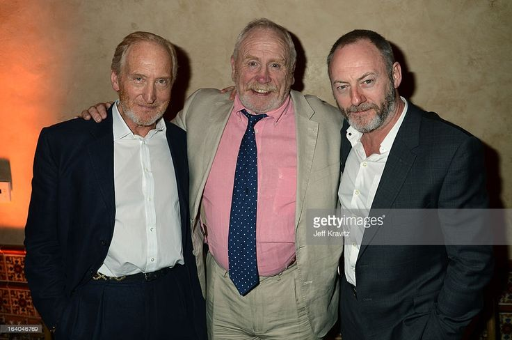 Actor Charles Dance, actor James Cosmo and Actor Liam Cunningham