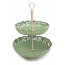 Green Lace cakestand | All & Sundry | The Table