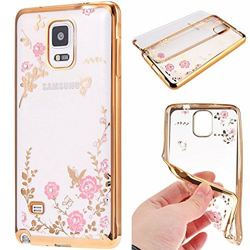 From 4.99 Galaxy Note 4 Case Happy360 Shockproof Transparent Flowers Crystal Bumper Silicone Tpu Gel Clear Bling Protective Rubber Soft Back Case Cover For Samsung Galaxy Note 4 (sm-n910) Gold Pink