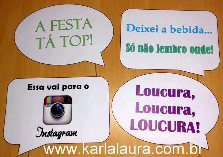 Karla Laura Convites, Lembranças e Papelaria Personalizada: Plaquinhas Divertidas - Najla Becheleni