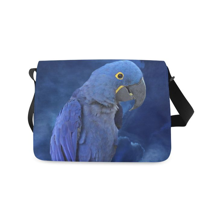 Hyacinth Macaw Messenger Bag. FREE Shipping. #artsadd #bags #parrots