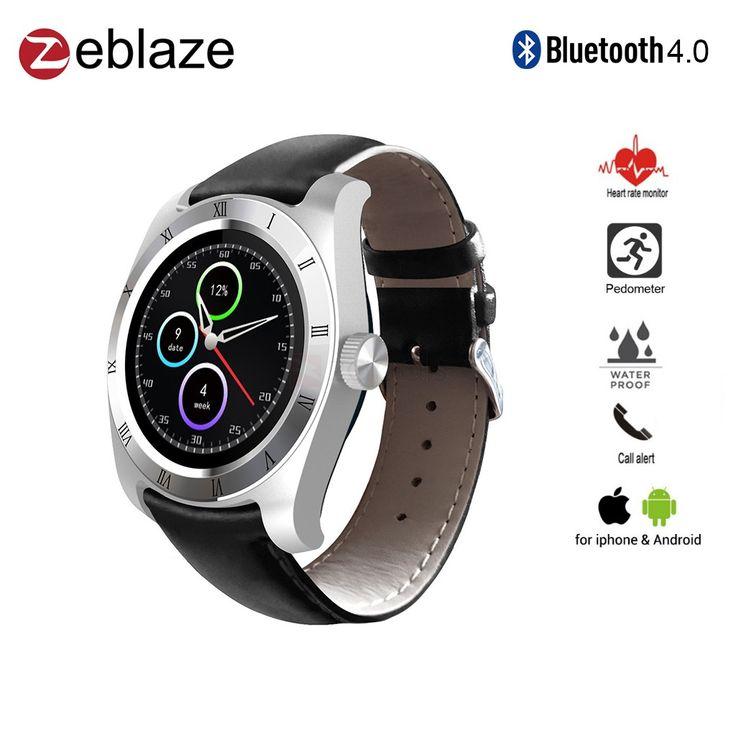 "Zeblaze Classic 1.21"" Bluetooth Smart Watch Heart Rate Monitor Remote Camera"