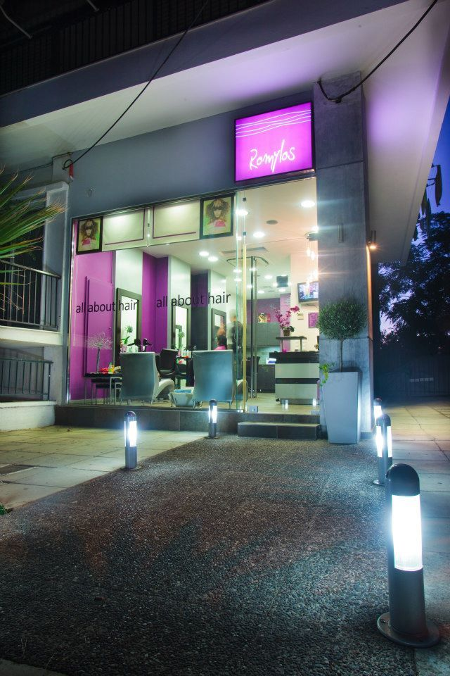 Romylos - All About #Hair by night! #Athens #Greece #HairSalon