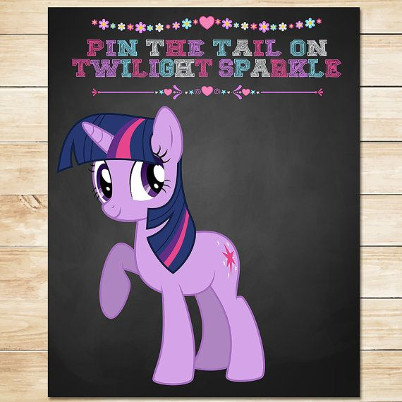 Printable My Little Pony Chalkboard Pin the by ApothecaryTables