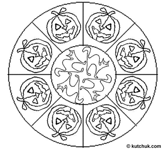 witch mandala coloring pages - photo#15