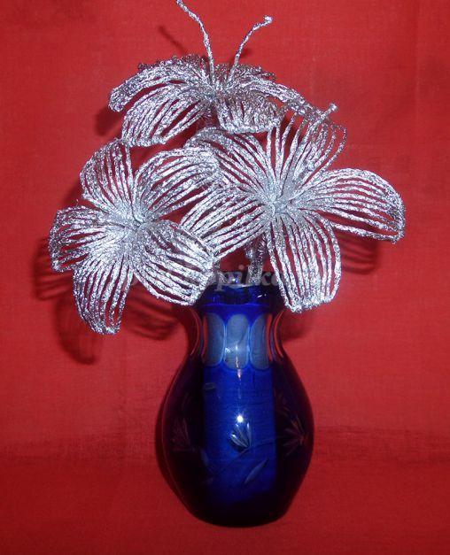 Цветы из фольги. Мастер-класс с пошаговым фото