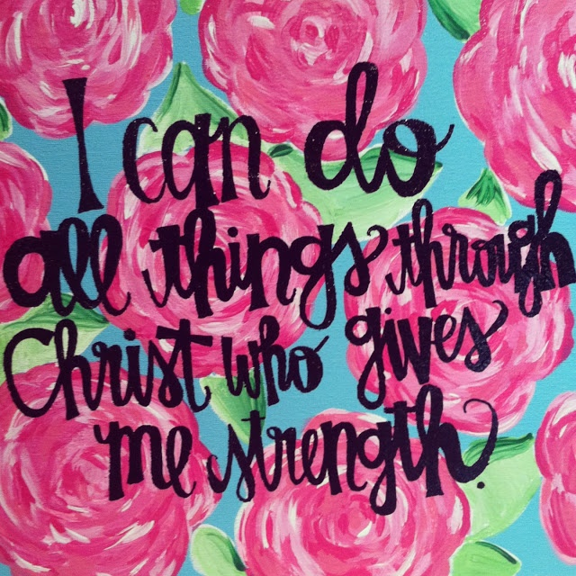 I Can Do All Things By Christ That Gives Me Strength