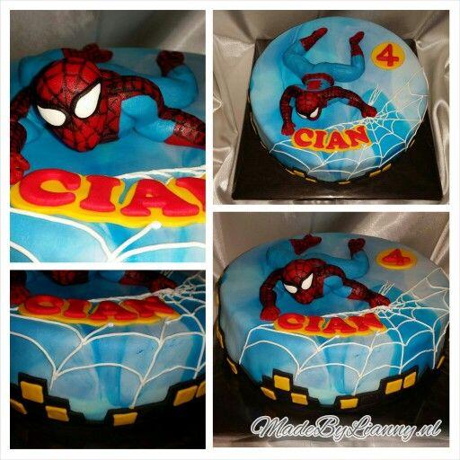 Stoere Spiderman taart!
