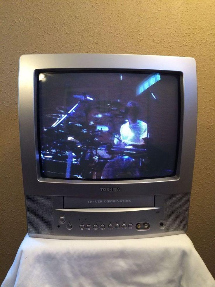"TOSHIBA MV13P2 TV VCR Combo VHS Tape Color Television 13"" CRT No Remote #Toshiba"