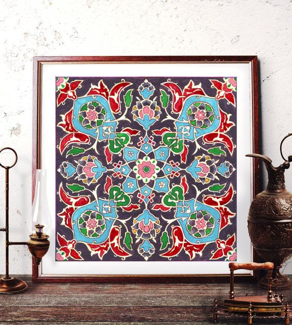 Mosque Tile Design Home Decor Traditional Turkish by HermesArts