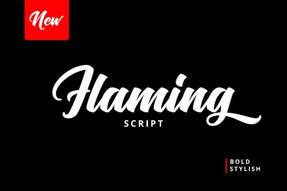 Flaming Script - 50% OFF by HRLN on @creativemarket