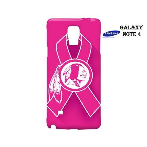 Washington Redskins Pink Ribbon Case for Samsung Galaxy Note 4