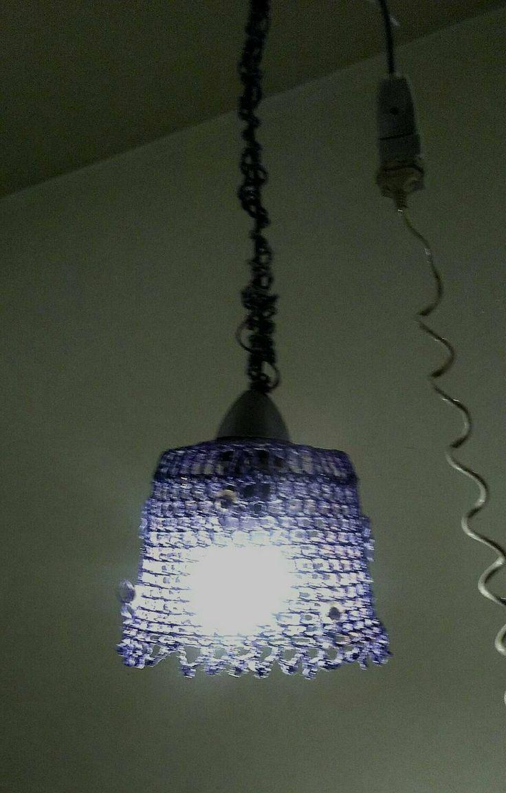 lampadario fatto a mano cotone